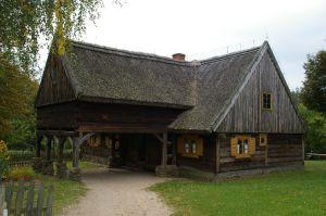 Altes Bauernhaus in Skansen