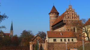 Das Schloss/Burg Allenstein in der Altstadt von Olsztyn/Allenstein